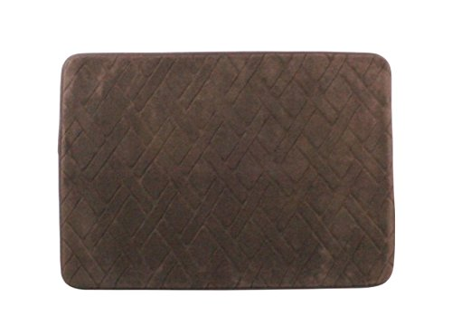 Home beyond 17 x 24 inch basket weave memory foam bath mat chocolate brown home garden for Chocolate brown bathroom rugs