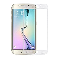 0.3mm electroplate White color Full coverage Screen Tempered Glass for Samsung Galaxy S6 Edge Plus full Screen protectors