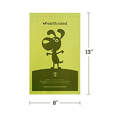300-Count Earth Rated® Dog Waste Bags on a Single Roll for Pantries and Outdoor Waste Stations (not on small rolls)