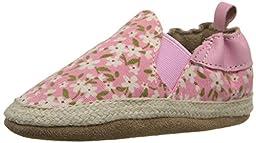 Robeez Floral Mania Soft Sole Crib Shoe (Infant), Light Pink, 18-24 Months M US