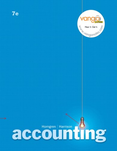 Accounting  ch 12 - 25 (7th Edition) (Chapters 12-25)