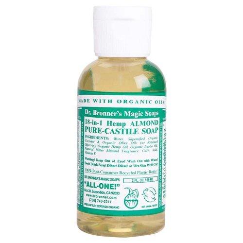 Organic Castile Liquid Soap Almond Dr. Bronner'S 2 Oz Liquid