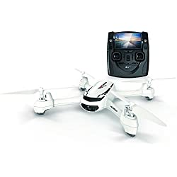 Hubsan H502S FPV X4 Desire GPS Altitude Mode 4 Channel 5.8GHz Transmitter 6 Axis Quadcopter with 720p HD Camera (White)