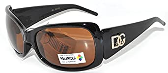 Womens Designer Sunglasses Shades Block 100% UVB UVA (1-26335_Brown_lens_Polarized)