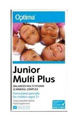 Optima Health Junior Multi Plus 60 Tablets from Optima Health