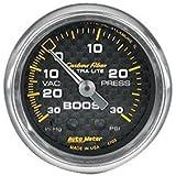 Auto Meter 4703 Carbon Fiber Mechanical Boost/Vacuum Gauge