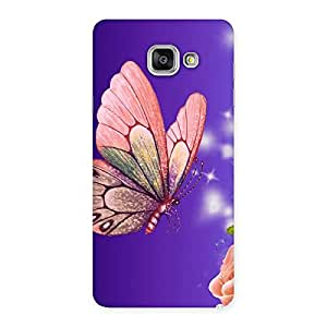 Delighted Butterfly Pinkish Back Case Cover for Galaxy A7 2016