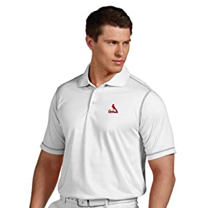 MLB St. Louis Cardinals Mens Icon Desert Dry Polo by Antigua