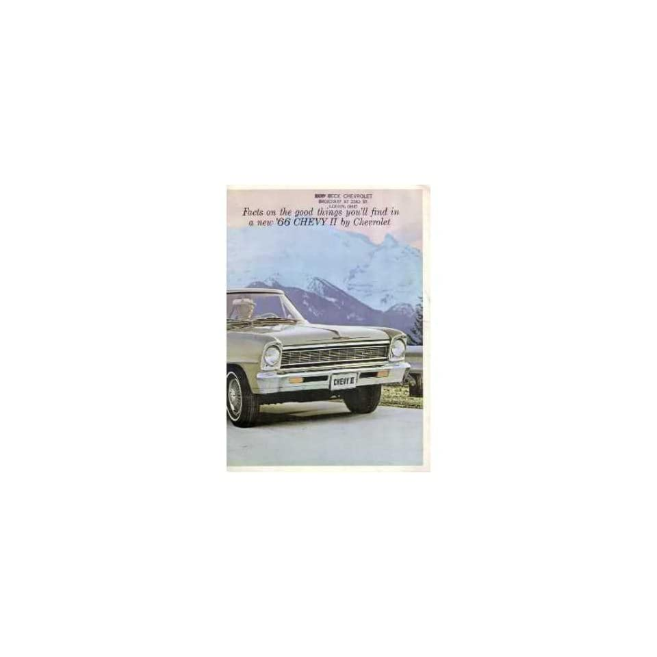 1966 CHEVROLET CHEVY II Sales Brochure Literature Book