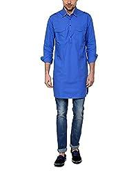 See Designs Men's Cotton Regular Fit Kurta ( Sdmdwss15Kt122_Xl, Royle Blue, Xl)