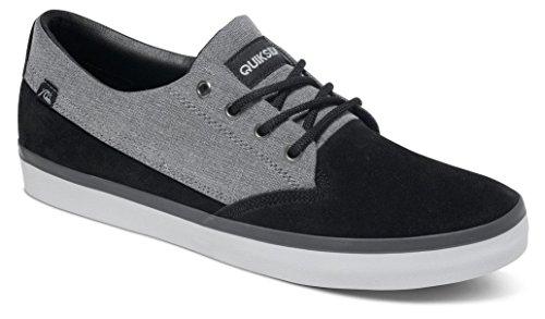 QuiksilverQuiksilver Herren Beacon Suede Lace Up Shoes - Scarpe da Ginnastica Basse Uomo , Nero (Schwarz (Black/Grey/White Xksw)), 41