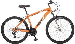Mongoose Mens Montana Mountain Bike, Matte Orange, Medium by Mongoose