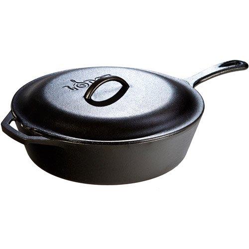 Kitchen Chicken Fryer Skillet, 5-Quart, cast iron, Natural healthy cooking