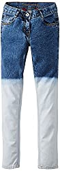 Cherokee Girls Jeans (253044351_White & Blue_11 Years)