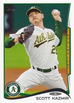 2014 Topps #371 Scott Kazmir - Oakland Athletics (Baseball Cards)