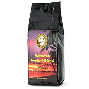 Aloha Island Coffee Volcano Dark Roast Organic Hawaiian Coffee Blend, Dark Roast, Ground, 8-ounce Packages (Pack of 2) at Sears.com