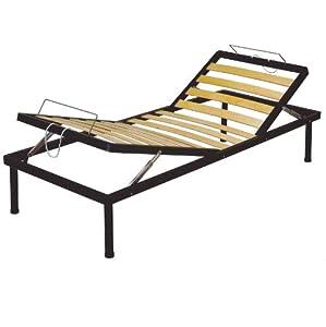 Rete letto 80x190 singola a doghe letto reclinabile alzata testa alzapiedi manuale pieghevole - Letto pieghevole amazon ...