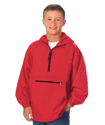 Charles River Apparel Unisex Youth Pack- N- Go Pullover ,Medium Black