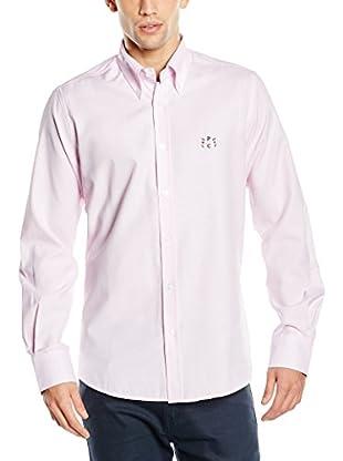 Polo Club Camisa Hombre Sticks Oxford (Rosa)