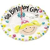 Birthday Girl Dessert Plate by Mud Pie