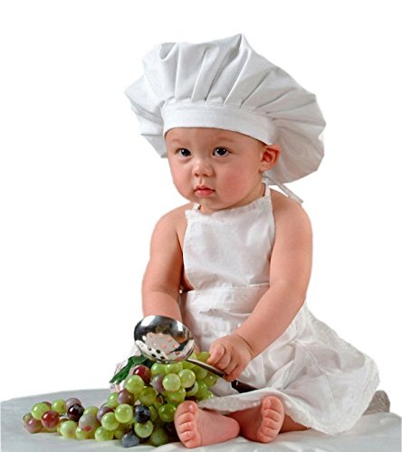TAZOY Cute Newborn Chef Uniforms Baby Onesies Girl and Boy Baby Clothes Kids Aprons