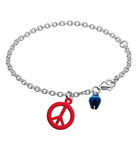 Kids Friendship Peace Bracelet Anklet with Bell Strawberry