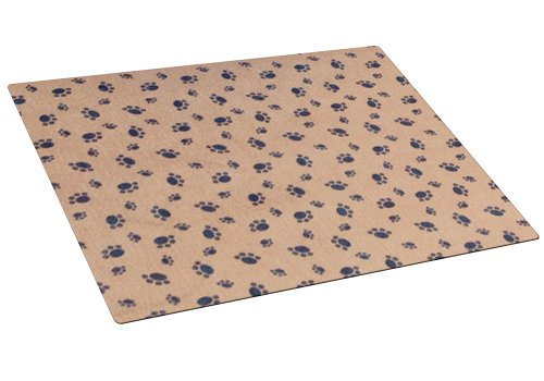 Artikelbild: Drymate Small Crate and Kennel Mat with Paw Imprint Design, 20-Inch by 28-Inch, Tan by RPM Pets