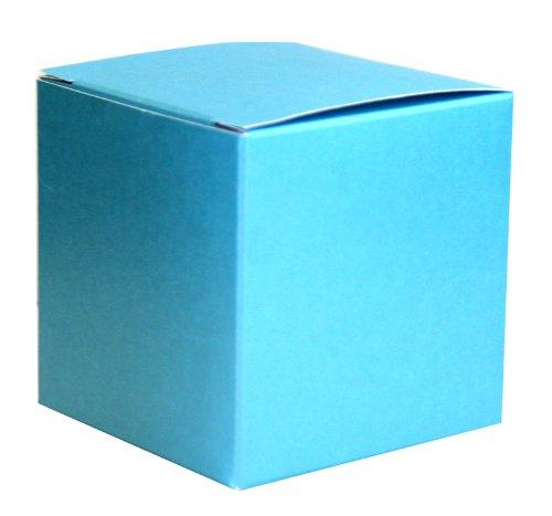 75 x 75 x 75 mm Türkis Perlmuttartige Geschenkbox