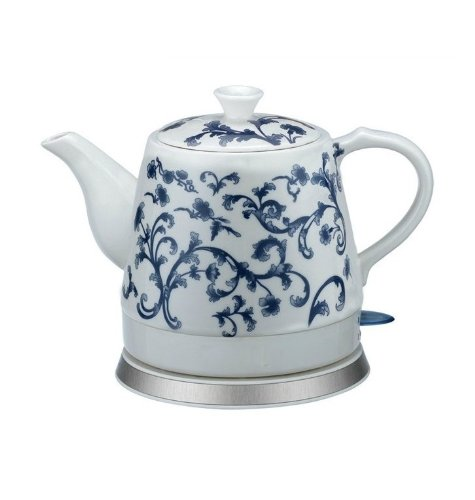 Find Cheap Ceramic Electric Kettle Blue and White Porcelain