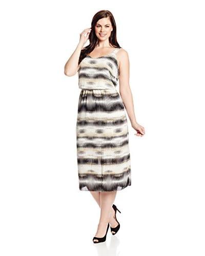 Vince Camuto Plus Women's Linear Echoes High Waist Dress