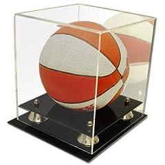 Buy Collectible Deluxe Acrylic NBA - NCAA Mini Basketball Display Case - With Mirror by Comictopia
