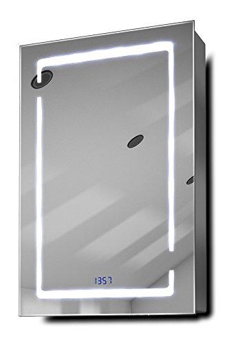 Filia-Clock-LED-Bathroom-Mirrored-Cabinet-With-Demister-Pad-Sensor-Shaver-k386