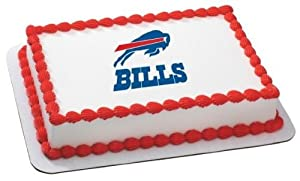 "6"" Round ~ NFL Buffalo Bills Football Logo ~ Edible Image Cake/Cupcake Topper!!!"