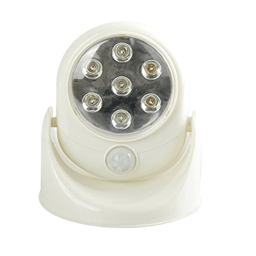 Aqure 360 Degree Adjutable Angles Rotation Wireless Indoor Motion Sensor 7 Led Security Safety Light