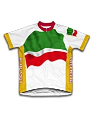 Chechen Flag Short Sleeve Cycling Jersey for Women