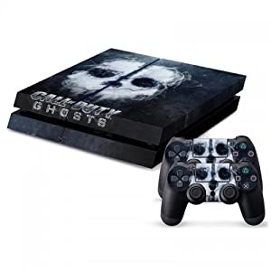 Designer Ps4 Slim Vinyl Call of Duty COD Ghosts Console & 2 Controller Skins