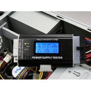 PC電源テスターPC電源テスター パソコン電源用電圧チェッカー、PCI-EXPRESS/S-ATA対応 専用テスター Power Supply Tester II