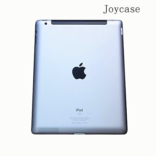 Joycase® Ipad 4 Generation 9.7 Case New Silver Metal Aluminum Back Cover Housing Middle Frame Bezel Chassis Replacement with Repair Kit for Ipad 4 Wlan + Cellular 4g Version Model A1459/A1460