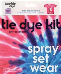 SEI Scrapbooking Tumble Dye Craft And Fabric Dye Kit Girly Girl Purple/Pink/Magenta; 2 Items/Order