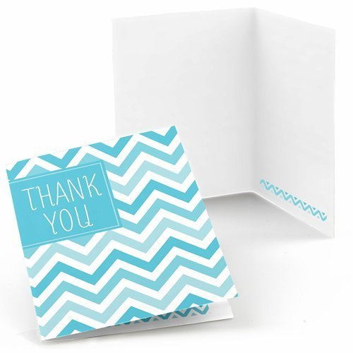 Chevron Blue Thank You Cards (8 count)