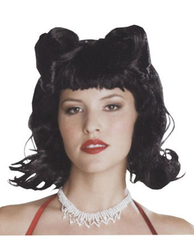 Retro French Twist Black Halloween Costume - 1 size