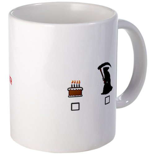 Cafepress 4-Cake Or Death 2 Mugs - S White