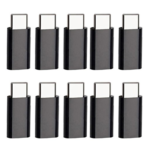 Lookatool 10 x USB 3.1 Type-C Male to Micro USB Female Converter USB-C Adapter Type, Compatible for Nokia N1 Tablet, Chromebook Pixel 2015, MSI Gaming Notebooks and 12