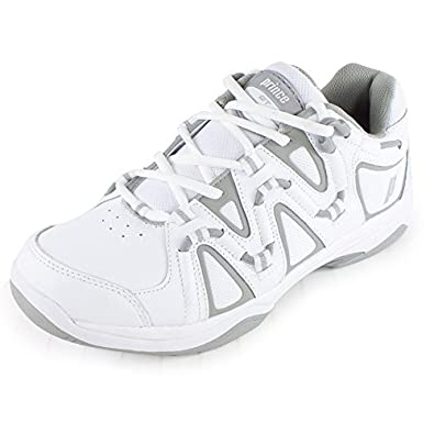 Prince QT Scream 4 Women's Tennis Shoes (White/Silver) (6 B(M) US)