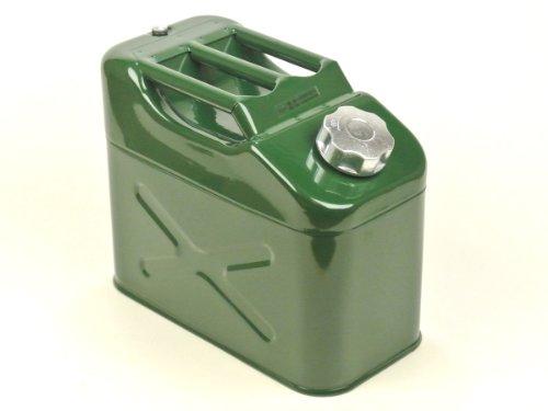 AG携行缶 スリムタイプ 新品即納 スチール製 容量10L 燃料タンク ガソリン携行缶 ガソリンタンク マリンレジャー:アウトドア:発電機:車の燃料補給:災害時の備えに!UN規格取得・消防法適合品:ジープ型:グリーン色