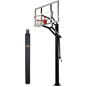 Goalrilla GSIII-SPP In-Ground Basketball System with Pole Pad, Adjustable 54 Tempered... by Goalrilla Goals