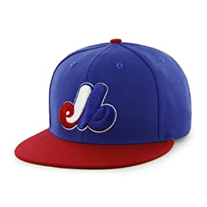 Montreal Expos 47 Brand Classic Snapback Blue Red Flat Bill Adjustable Hat Cap by