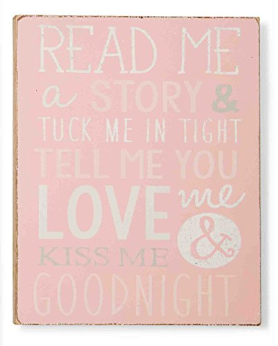 Mud Pie Plaque, Goodnight Kiss, Pink - 1