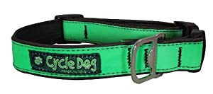 Cycle Dog Reflective Dog Collar - Neon Green - Medium