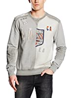 Guess Sudadera Customised Fleece (Gris)